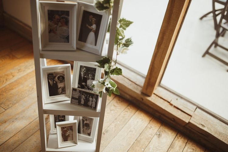Family Wedding Pictures on Step Ladder