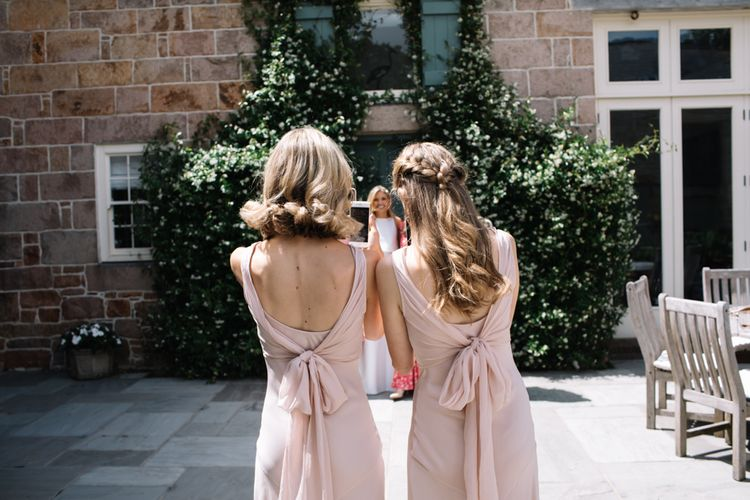 Marquee Wedding Jersey With Bride In Jesus Peiro With Images From Wedding_M And Bridesmaids In Pink Silk Dresses By Ghost