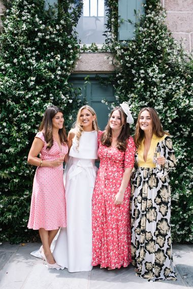 Stylish Wedding Guests // Marquee Wedding Jersey With Bride In Jesus Peiro With Images From Wedding_M And Bridesmaids In Pink Silk Dresses By Ghost