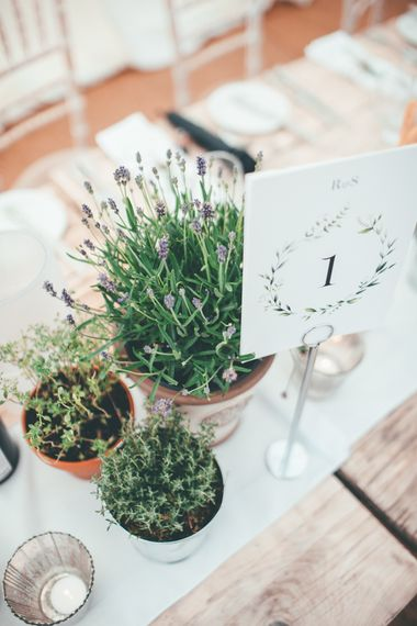 Potted Plants For Wedding Decor // Marquee Wedding Jersey With Bride In Jesus Peiro With Images From Wedding_M And Bridesmaids In Pink Silk Dresses By Ghost