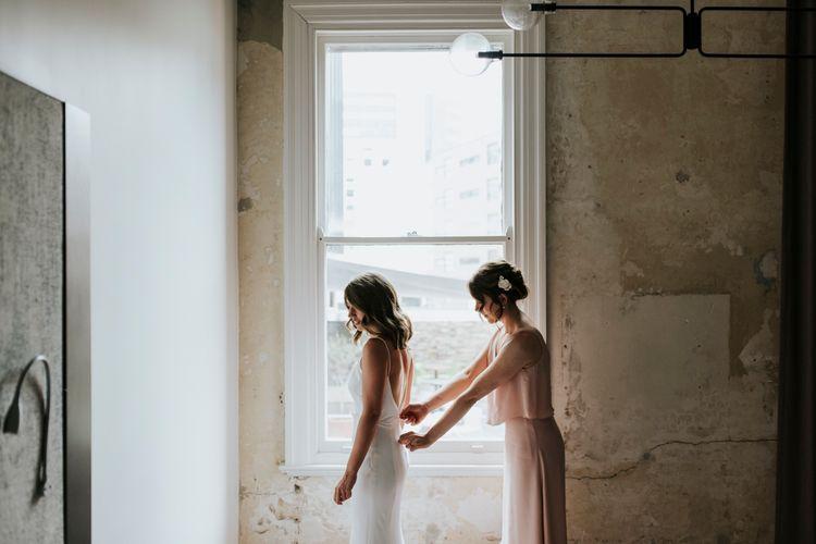 Elegant Bridal Slip Dress By Helen English