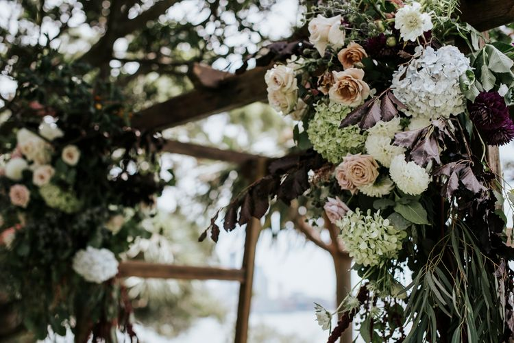 Floral Ceremony Arch For Outdoor Wedding
