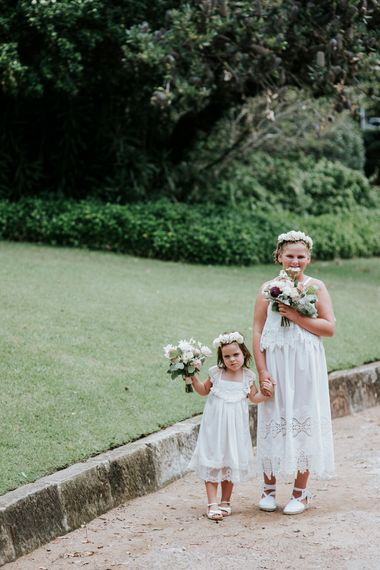 Adorable Flower Girls In All White