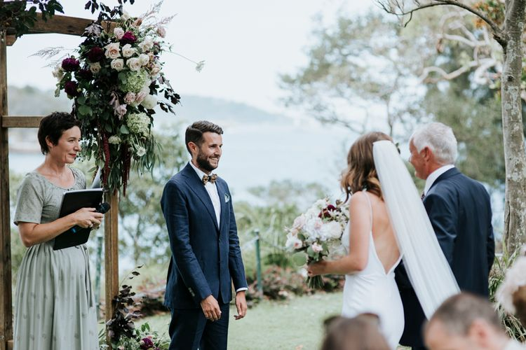 Intimate Wedding In Sydney With An Outdoor Ceremony