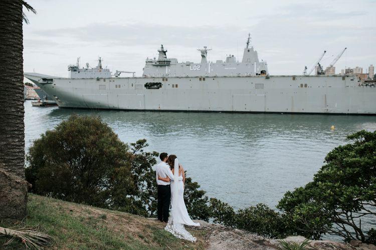 Bride & Groom   Intimate Wedding In Sydney Andrew Boy Charlton Poolside Cafe