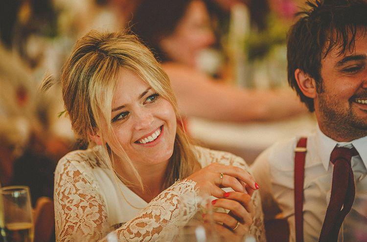 Beautiful Bride With Bardot Esque Look