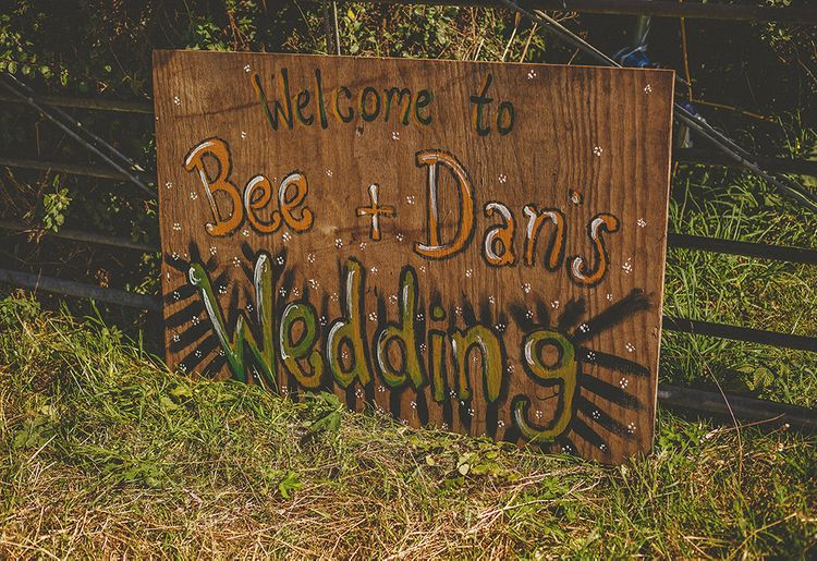 Welcome Sign For Festival Inspired Weding