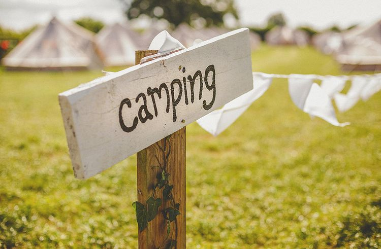 Bell Tent Camping At Wedding