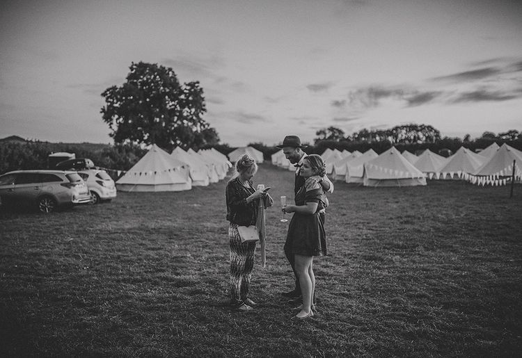 Festival Wedding With Bell Tent Camping