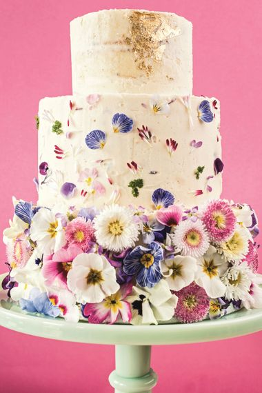 Decorating Cakes With Edible Flowers And Petals
