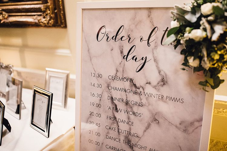 Mable Wedding Stationery | Order of The Day Sign