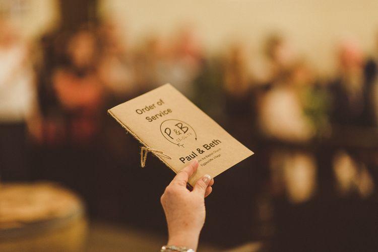 Kraft Paper Wedding Stationery | PapaKåta Tipi at Angrove Park North Yorkshire | Matt Penberthy Photography