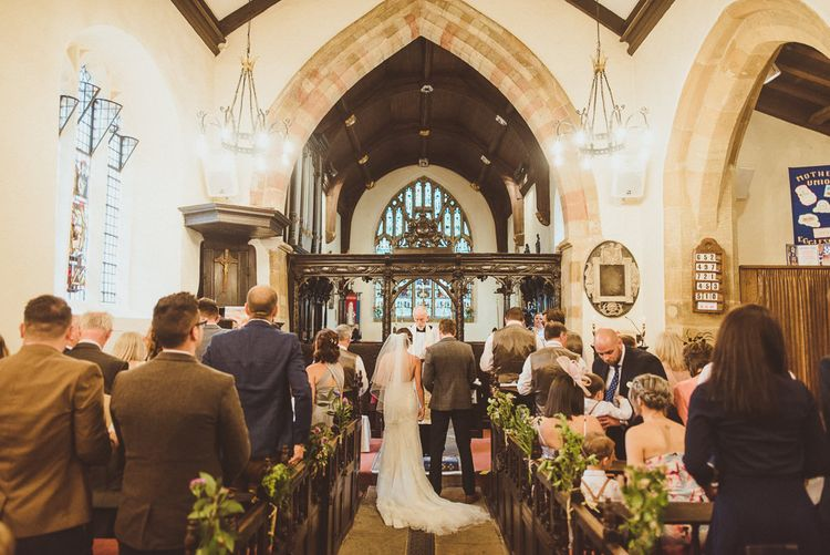 Church Wedding Ceremony | PapaKåta Tipi at Angrove Park North Yorkshire | Matt Penberthy Photography