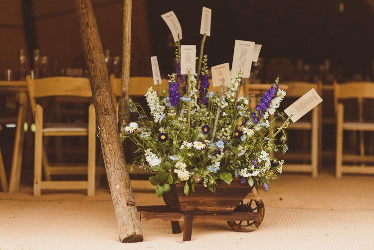 Plant Potter Table Plan | PapaKåta Tipi at Angrove Park North Yorkshire | Matt Penberthy Photography