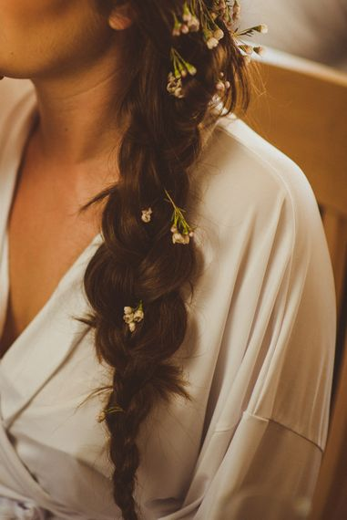 Side Braid with Flowers | PapaKåta Tipi at Angrove Park North Yorkshire | Matt Penberthy Photography