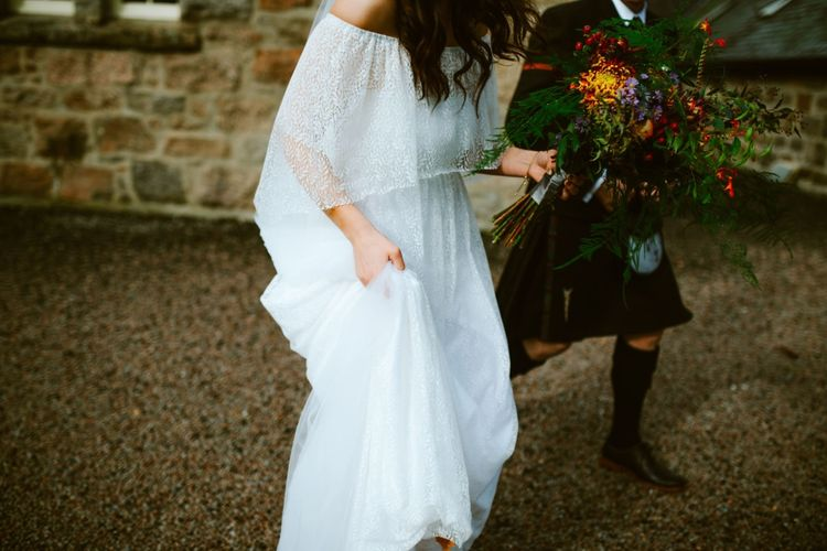 Autumn Wedding At Coos' Cathedral Aboyne Aberdeen With Bride In Bespoke Wedding Dress & Groom In Kilt With Images & Film By Tub Of Jelly