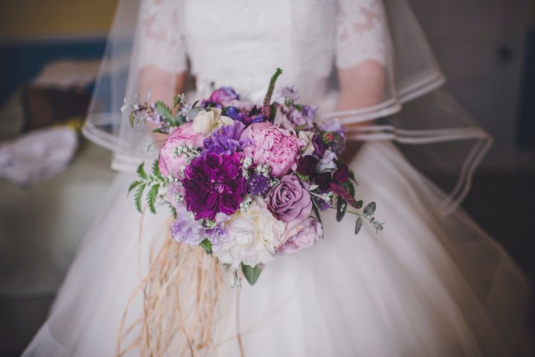 Bridal Bouquet In Pinks & Purples