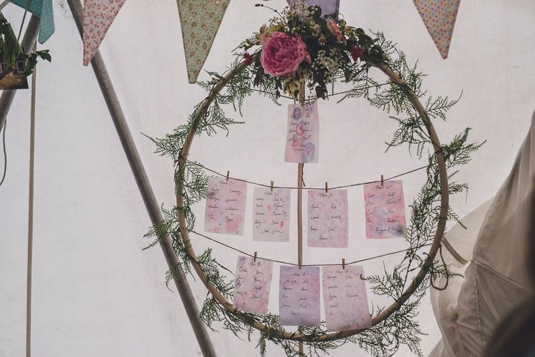 Floral Hoop Table Plan