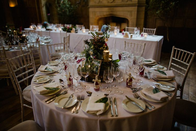 Table Scape | Woodland Themed Wedding at Achnagairn Estate near Inverness, Scotland | Zoe Alexander Photography