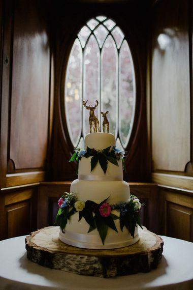 Total Icing Wedding Cake | Woodland Themed Wedding at Achnagairn Estate near Inverness, Scotland | Zoe Alexander Photography