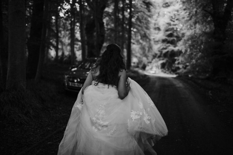 Bride in Modeca Bridal Gown | Woodland Themed Wedding at Achnagairn Estate near Inverness, Scotland | Zoe Alexander Photography