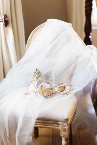 Love Art Wear Art Shoes | Romantic Blush Wedding Inspiration by The Wedding Stylist at Notley Abbey with Joanna Truby Flowers | Emma Pilkington Photography | Opaline Films