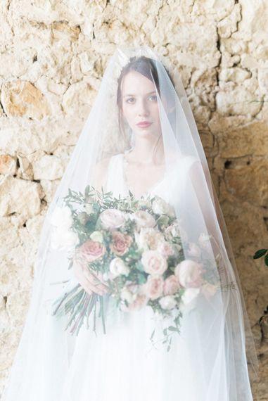 Bridal Beauty | Romantic Blush Wedding Inspiration by The Wedding Stylist at Notley Abbey with Joanna Truby Flowers | Emma Pilkington Photography | Opaline Films