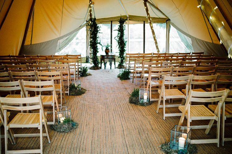 Tipi by All About Me Marquees | Boho Winter Tipi Wedding Inspiration | Styling & Concept by Pretty Creative | Amy Faith Photography