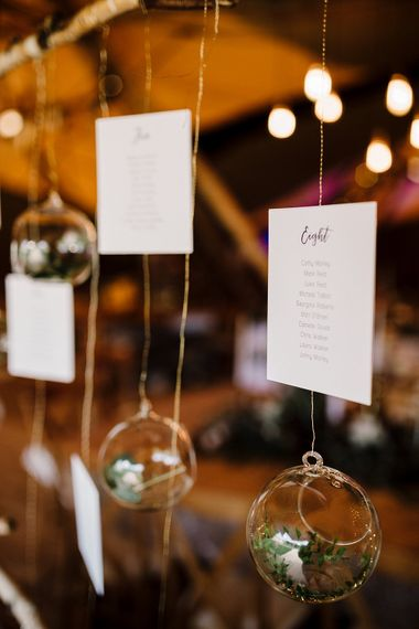 Hanging Table Plan & Votives | Boho Winter Tipi Wedding Inspiration | Styling & Concept by Pretty Creative | Amy Faith Photography