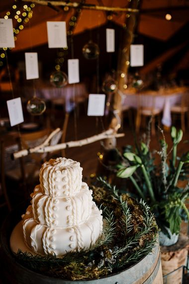 White Iced Cake by Super Duper Cakes | Boho Winter Tipi Wedding Inspiration | Styling & Concept by Pretty Creative | Amy Faith Photography