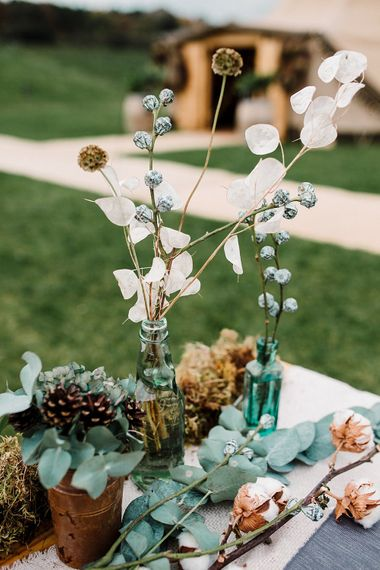 Winter Tablescape with Nordic Touches | Boho Winter Tipi Wedding Inspiration | Styling & Concept by Pretty Creative | Amy Faith Photography