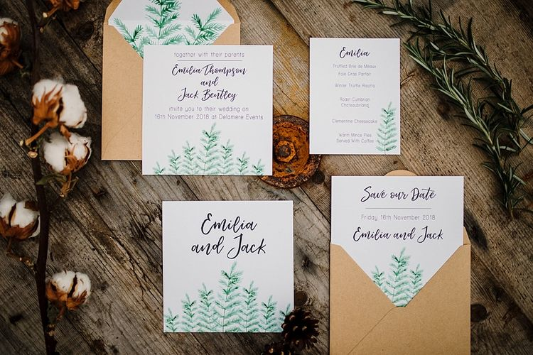 Hattie Boo Designs Wedding Stationery | Boho Winter Tipi Wedding Inspiration | Styling & Concept by Pretty Creative | Amy Faith Photography