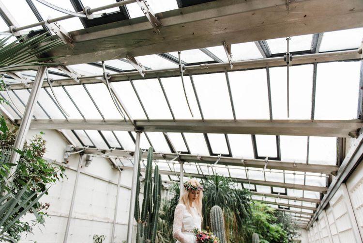 Bridal Separates By KMR Bespoke Bridal | Bright Wedding Bouquet | Sheffield Botanical Gardens | Sarah Folega Fine Art Photography