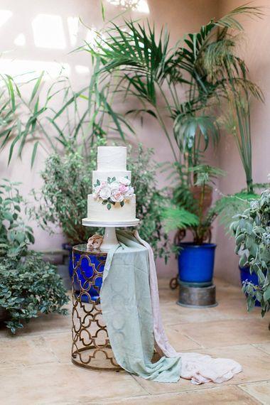 Wedding Cake by The Vanilla Pod Bakery | Botanical Boho Luxe Inspiration | Philippa Sian Photography