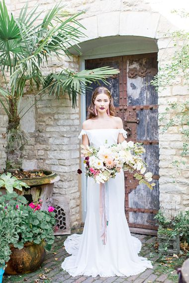 Bridal Gown | Botanical Boho Luxe Inspiration | Philippa Sian Photography