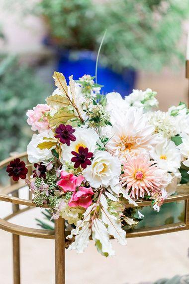 Floribunda Rose Bridal Bouquet | Botanical Boho Luxe Inspiration | Philippa Sian Photography