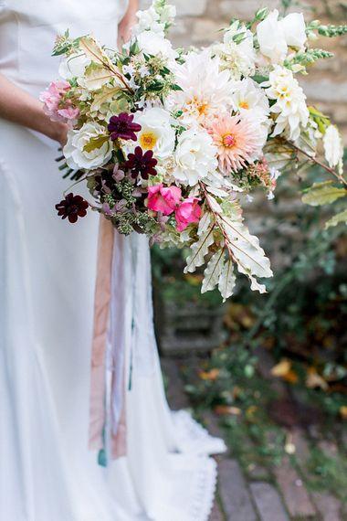 Floribunda Rose Wedding Bouquet | Botanical Boho Luxe Inspiration | Philippa Sian Photography