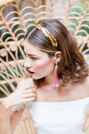 Bridal Makeup | Botanical Boho Luxe Inspiration | Philippa Sian Photography