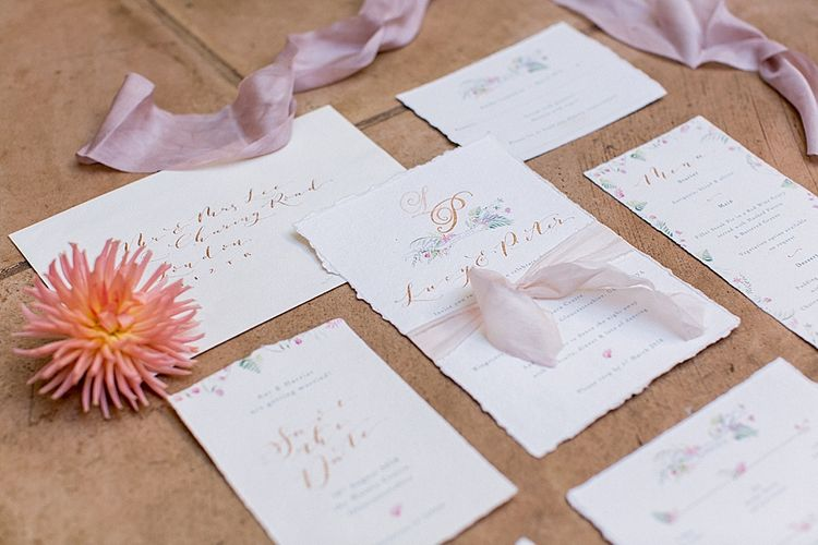 Wedding Stationery by De Winton Paper Co | Botanical Boho Luxe Inspiration | Philippa Sian Photography