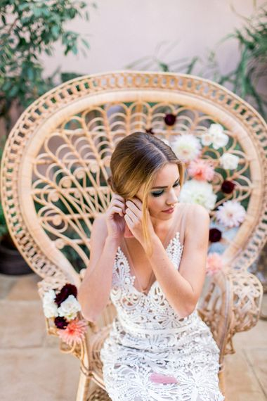 Bridal Beauty | Botanical Boho Luxe Inspiration | Philippa Sian Photography