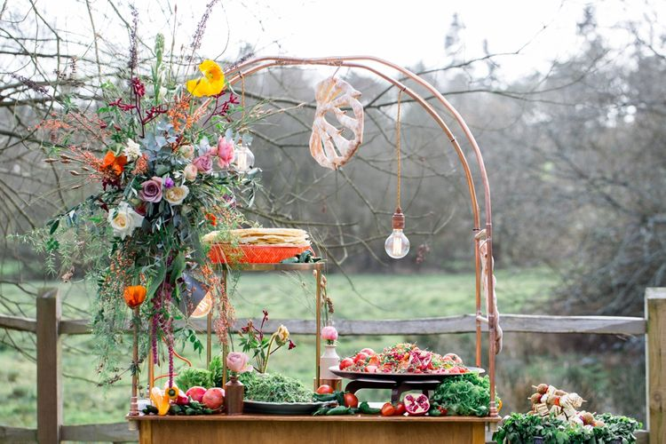 BBQ Station For Wedding From Kalm Kitchen