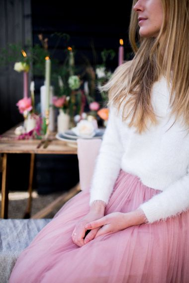 Pink Tulle Skirt By Little Mistress