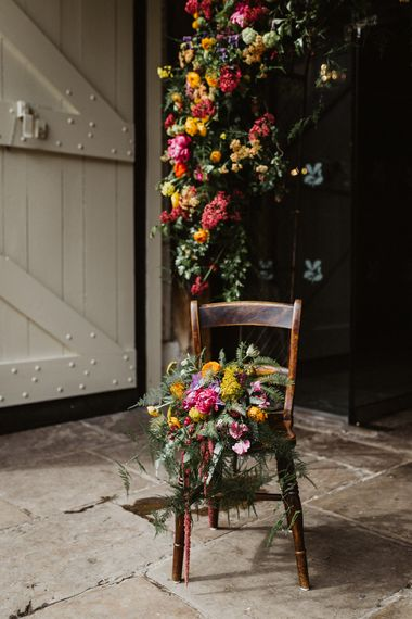 Floral Arch & Oversized Bouquet For Wedding