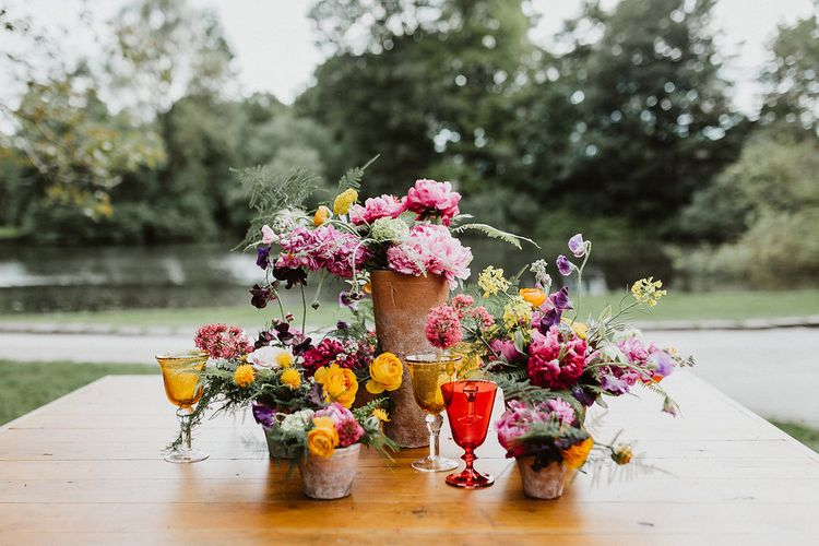 Bright & Botanical Wedding Inspiration Shoot Planned & Styled by Oakleaf Weddings & Events Glory Days Bridal Dresses Images From Caitlin + Jones Photography