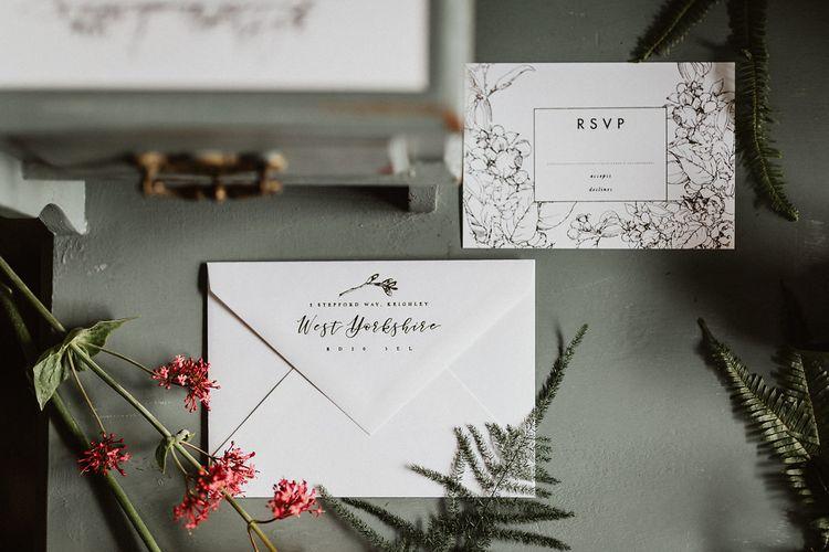 Elegant Botanical Stationery Suite