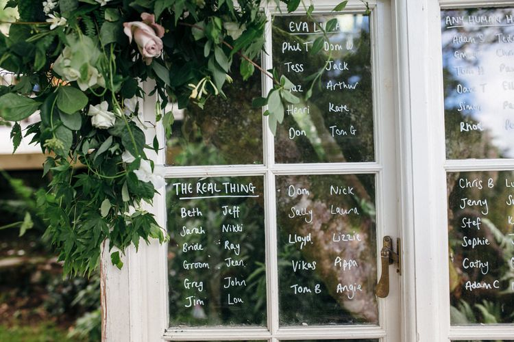 Glass Window Table Plan For Wedding