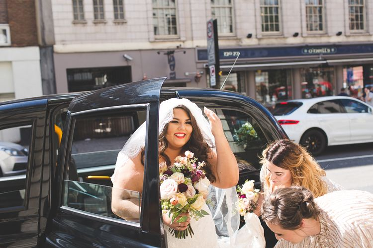 Bride in Lace Oleg Cassini Wedding Dress from Davids Bridal   Kirsty Mackenzie Photography   Insta Wedding Films