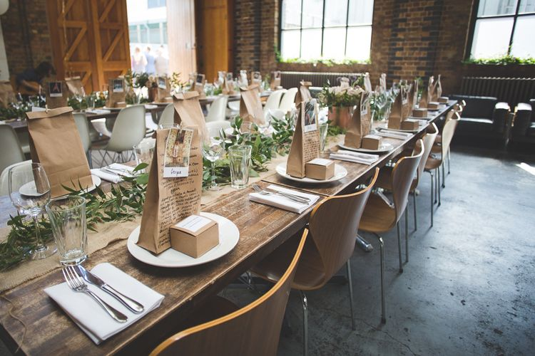 Brown Paper Favour Bags   06 St Chad's Place Wedding Reception   Kirsty Mackenzie Photography   Insta Wedding Films