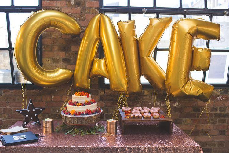 Cake Table   06 St Chad's Place Wedding Reception   Kirsty Mackenzie Photography   Insta Wedding Films