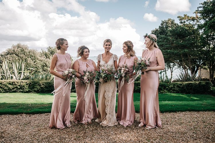 Bride in Jane Bourvis & Bridesmaids in Ghost